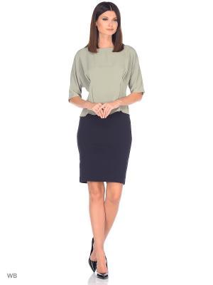 Блузка FLEURETTA. Цвет: оливковый