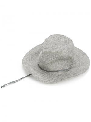 Ковбойская шляпа с завязками Kijima Takayuki. Цвет: коричневый