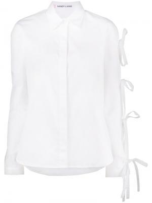Рубашка Noah с завязками Sandy Liang. Цвет: белый