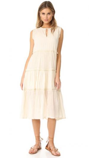 Платье с необработанными краями Love Sam. Цвет: золотой/белый