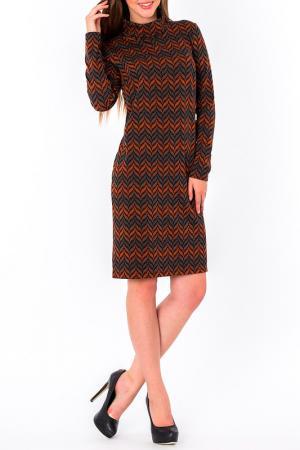 Платье S&A style. Цвет: терракотово-серый