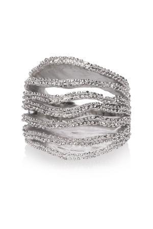 Кольцо ISHARYA. Цвет: серебряный