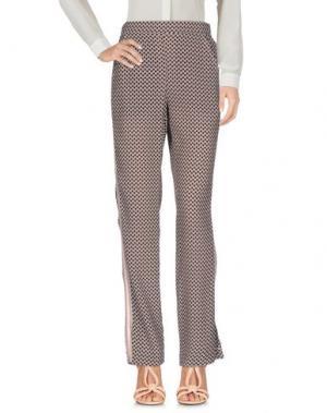 Повседневные брюки PDR PHISIQUE DU ROLE. Цвет: баклажанный