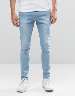 Brooklyn Supply Co. Светлые джинсы с необработанным краем Co. Цвет: синий