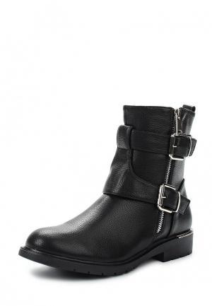 Полусапоги Ideal Shoes. Цвет: черный