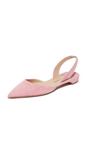Замшевая обувь на плоской подошве Rhea Paul Andrew. Цвет: розовый