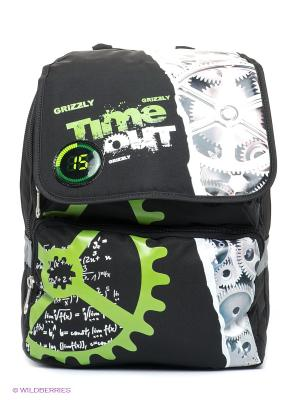 Рюкзак Grizzly. Цвет: черный, зеленый, белый