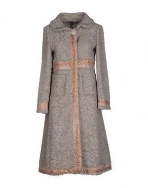 Пальто ANGELA MELE MILANO. Цвет: серый