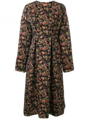 Жаккардовое платье-миди с цветочным узором 08Sircus. Цвет: многоцветный