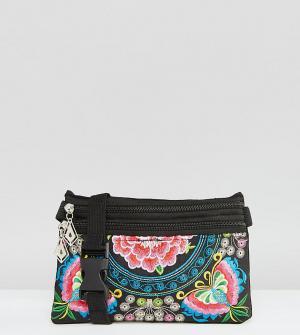 Reclaimed Vintage Сумка-кошелек на пояс с вышивкой Butterfly. Цвет: мульти