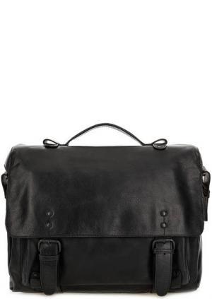 Вместительная сумка из натуральной кожи aunts & uncles. Цвет: черный