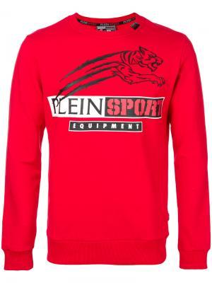 Толстовка с принтом логотипа Plein Sport. Цвет: красный