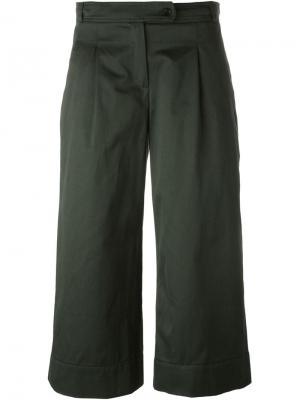 Укороченные брюки Merci Société Anonyme. Цвет: зелёный