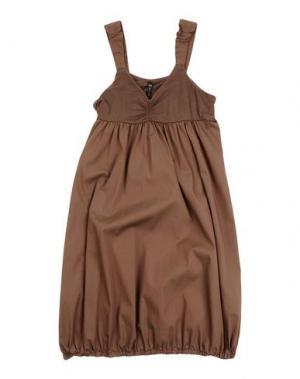 Платье MANILA GRACE. Цвет: темно-коричневый