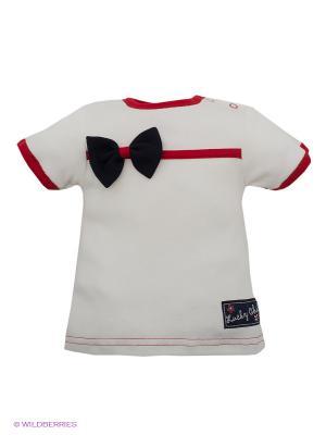 Футболка Lucky Child. Цвет: белый, красный