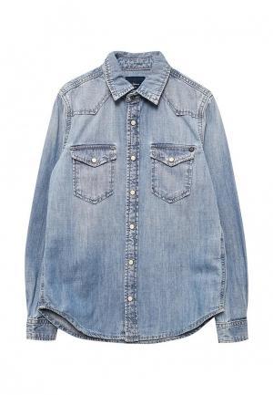 Рубашка джинсовая Pepe Jeans. Цвет: голубой