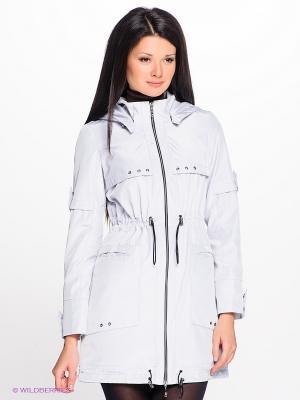 Куртка Alisa Line. Цвет: светло-серый