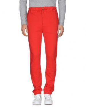 Повседневные брюки BRUNO BORDESE. Цвет: красный