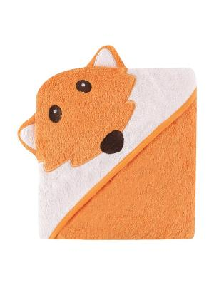 Полотенце с капюшоном , 1 шт., Luvable Friends. Цвет: оранжевый