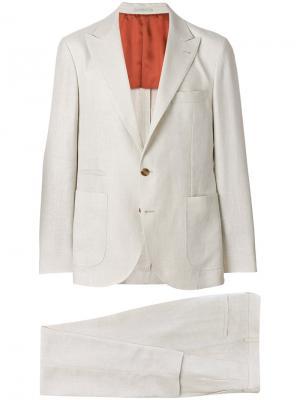 Формальный костюм-двойка Brunello Cucinelli. Цвет: телесный