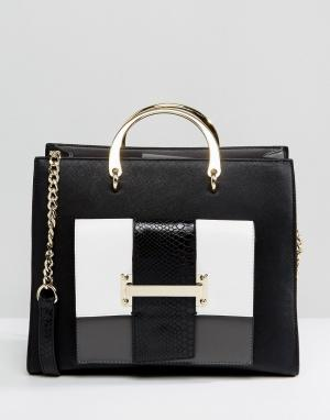 Faith Монохромная сумка-тоут с ручкой. Цвет: черный