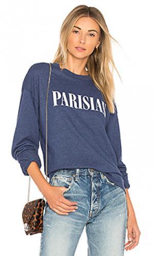Свитшот с круглым вырезом под горло parisian Private Party. Цвет: синий