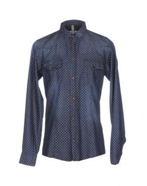 Джинсовая рубашка BERNA. Цвет: синий