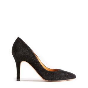 Туфли-лодочки с блёстками BOBBIES. Цвет: черный