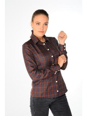 Рубашка Katerina Bleska&Tamara Savin. Цвет: синий, коричневый, красный