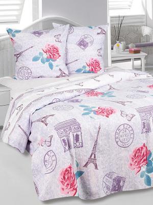 Комплект постельного белья Париж Тет-а-Тет. Цвет: сиреневый