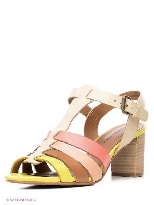 Босоножки Francesco Donni. Цвет: коричневый, бежевый, розовый, желтый