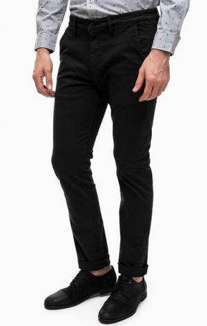 Черные брюки с четырьмя карманами Lee. Цвет: черный