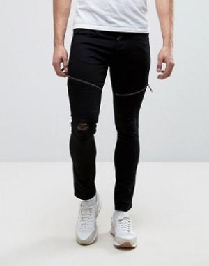 Loyalty & Faith Черные супероблегающие эластичные джинсы and Arundel. Цвет: черный
