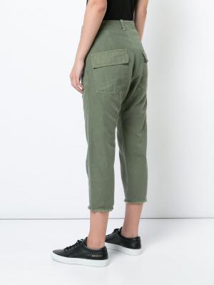 Укороченные брюки Nili Lotan. Цвет: зелёный