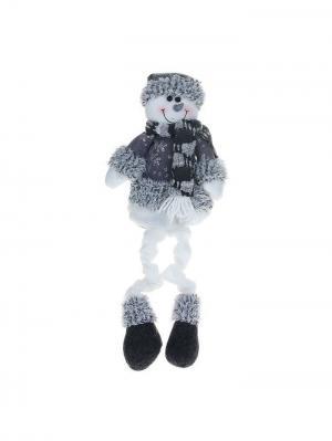 Мягкая игрушка Снеговик в сером костюме, 40 см А М Дизайн. Цвет: антрацитовый