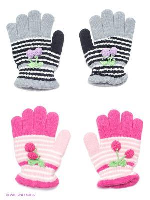 Перчатки, 2 пары FOMAS. Цвет: серый, розовый, белый, черный