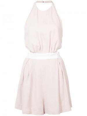 Плиссированное мини-платье C/Meo. Цвет: розовый и фиолетовый