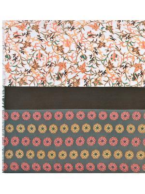 Платок Eleganzza. Цвет: хаки, бежевый, коралловый, светло-оранжевый, серый