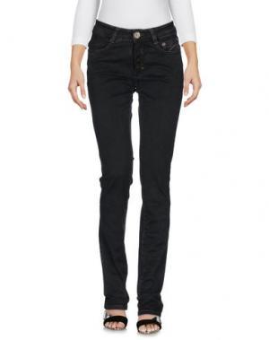 Джинсовые брюки 9.2 BY CARLO CHIONNA. Цвет: черный