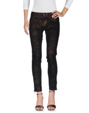 Джинсовые брюки ELISA FANTI. Цвет: черный