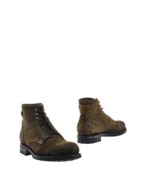 Полусапоги и высокие ботинки ALBERTO FASCIANI. Цвет: зеленый-милитари