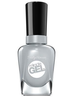 Гель лак для ногтей Miracle Gel greyfitti, тон 260 SALLY HANSEN. Цвет: серый