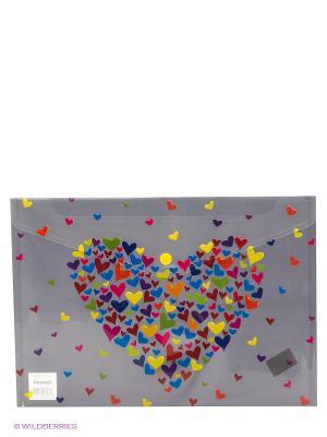 Папка-конверт Hearts Centrum. Цвет: серый, оранжевый, темно-красный