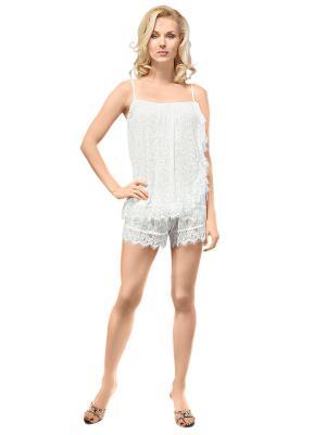 Пижама Balancelle. Цвет: белый, светло-серый