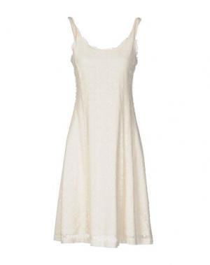 Платье до колена ROBERTA SCARPA. Цвет: слоновая кость
