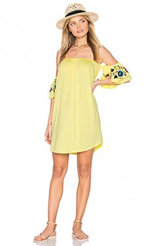 Платье sofia VAVA by Joy Han. Цвет: желтый