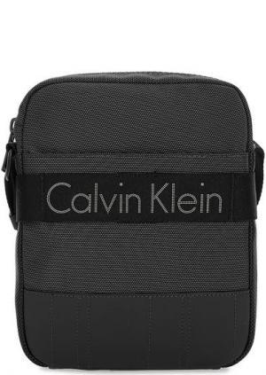 Маленькая текстильная сумка через плечо Calvin Klein Jeans. Цвет: серый
