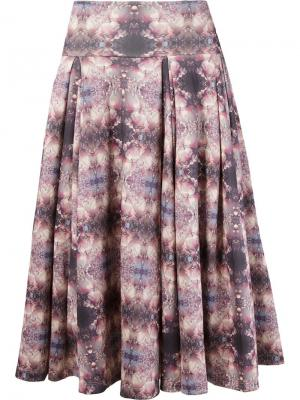 Плиссированная юбка Skinbiquini. Цвет: розовый и фиолетовый