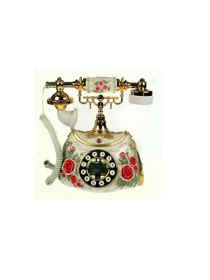 Телефон Романтика Русские подарки. Цвет: светло-бежевый, красный