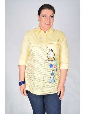 Блузка Happiness. Цвет: желтый